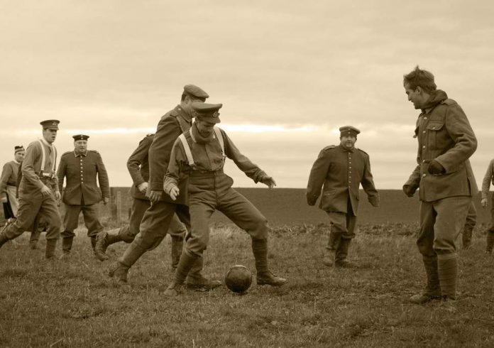 when football defeated the war 1914