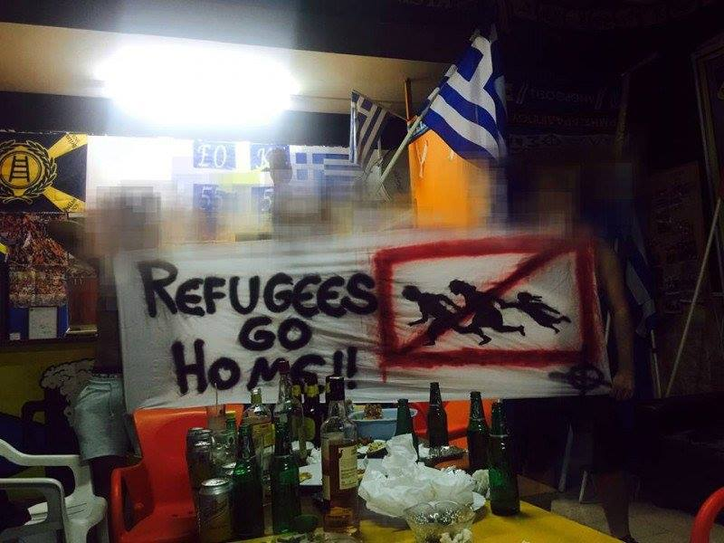 apoel fans refugees go home